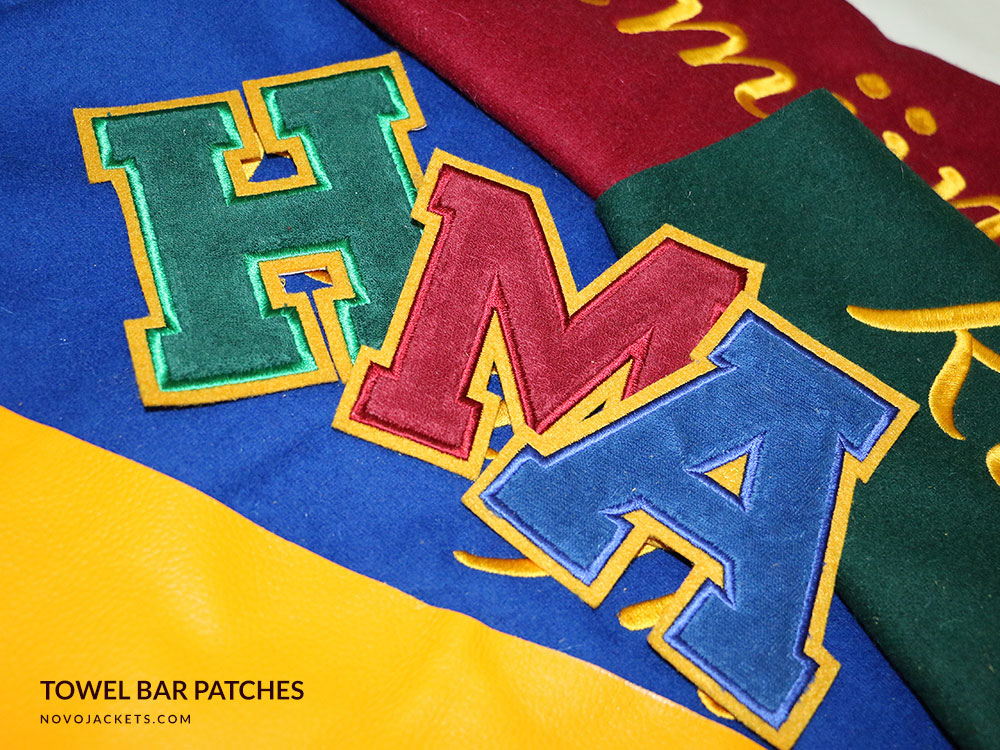 Chenille Patches Example High School Patches Letters and Numbers