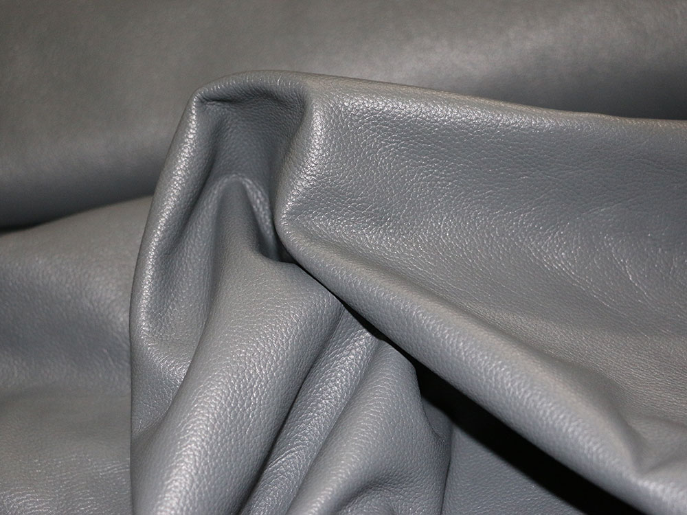 gray cowhide leather