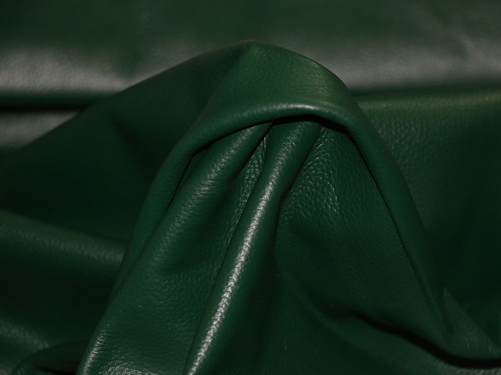 Green Cowhide Leather
