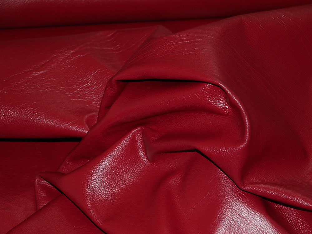 Maroon Cowhide Leather