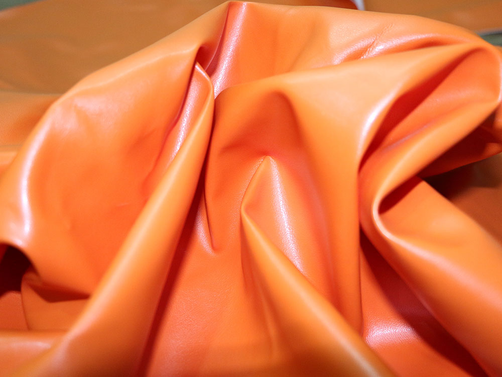 Orange Faux Leather