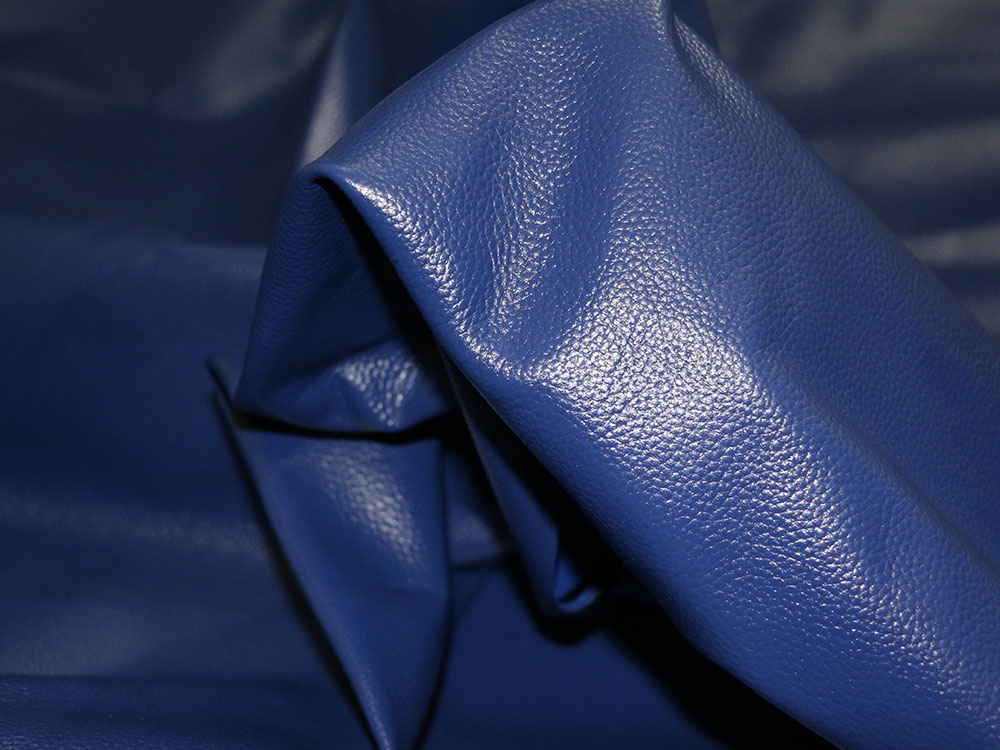 Royal Blue Cowhide Leather