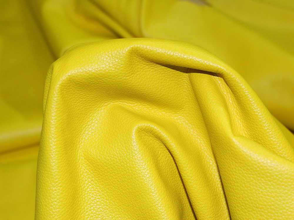 Yellow Cowhide Leather