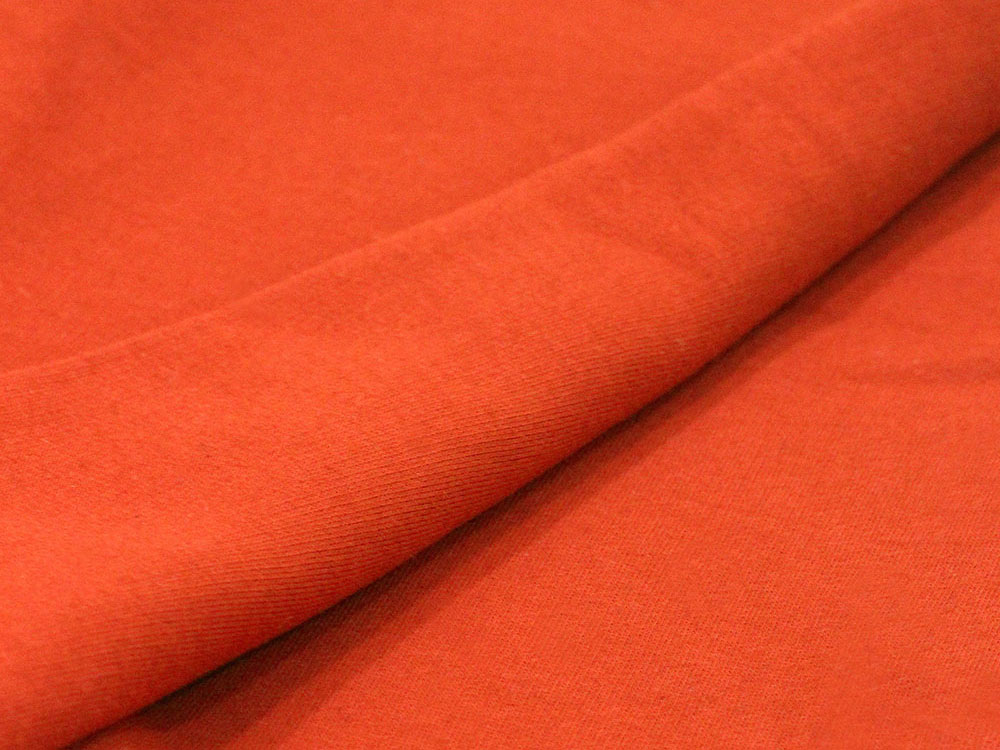 Orange Cotton Fleece