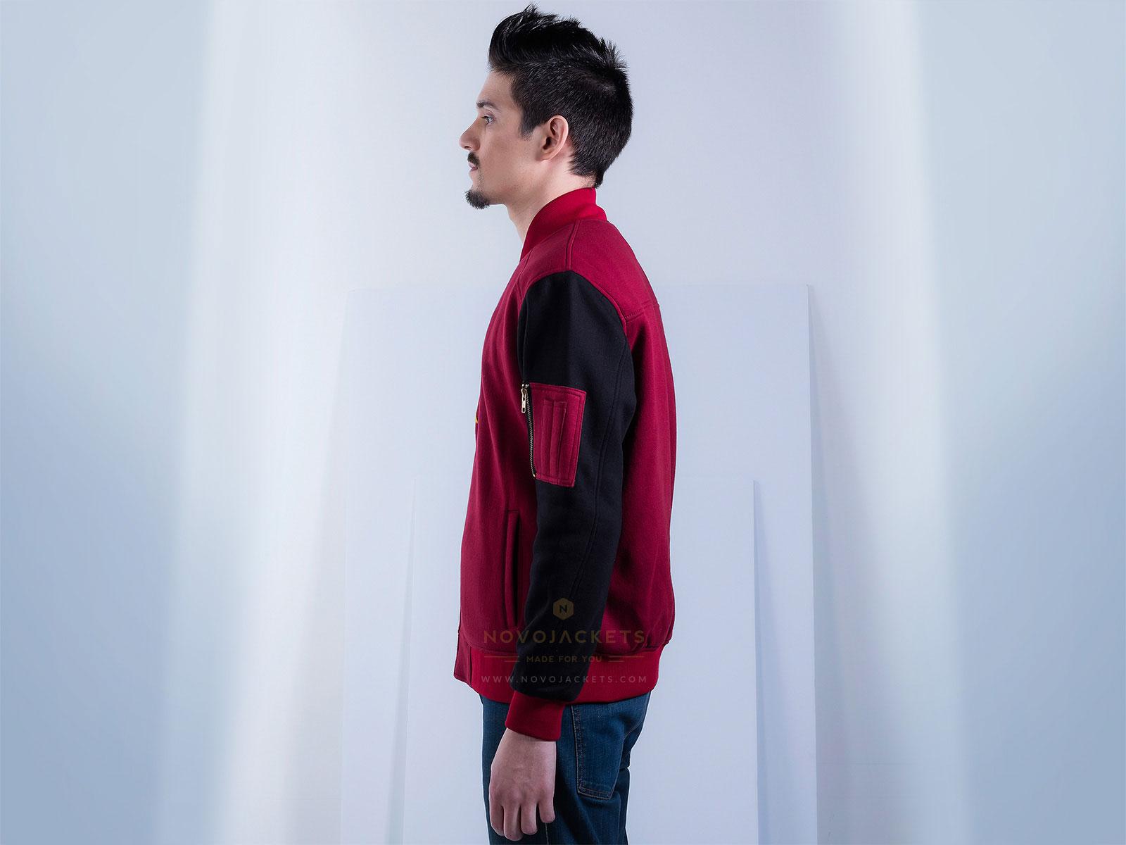 Custom Bomber Jacket for Men in Cotton Fleece