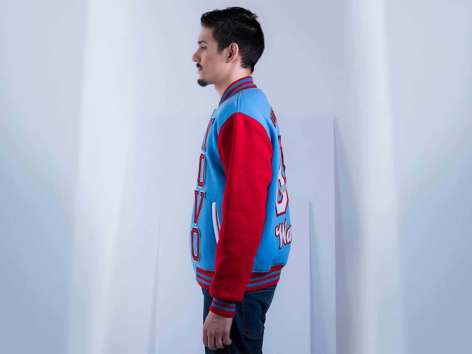 Custom Cotton Fleece Letterman Jacket for Men