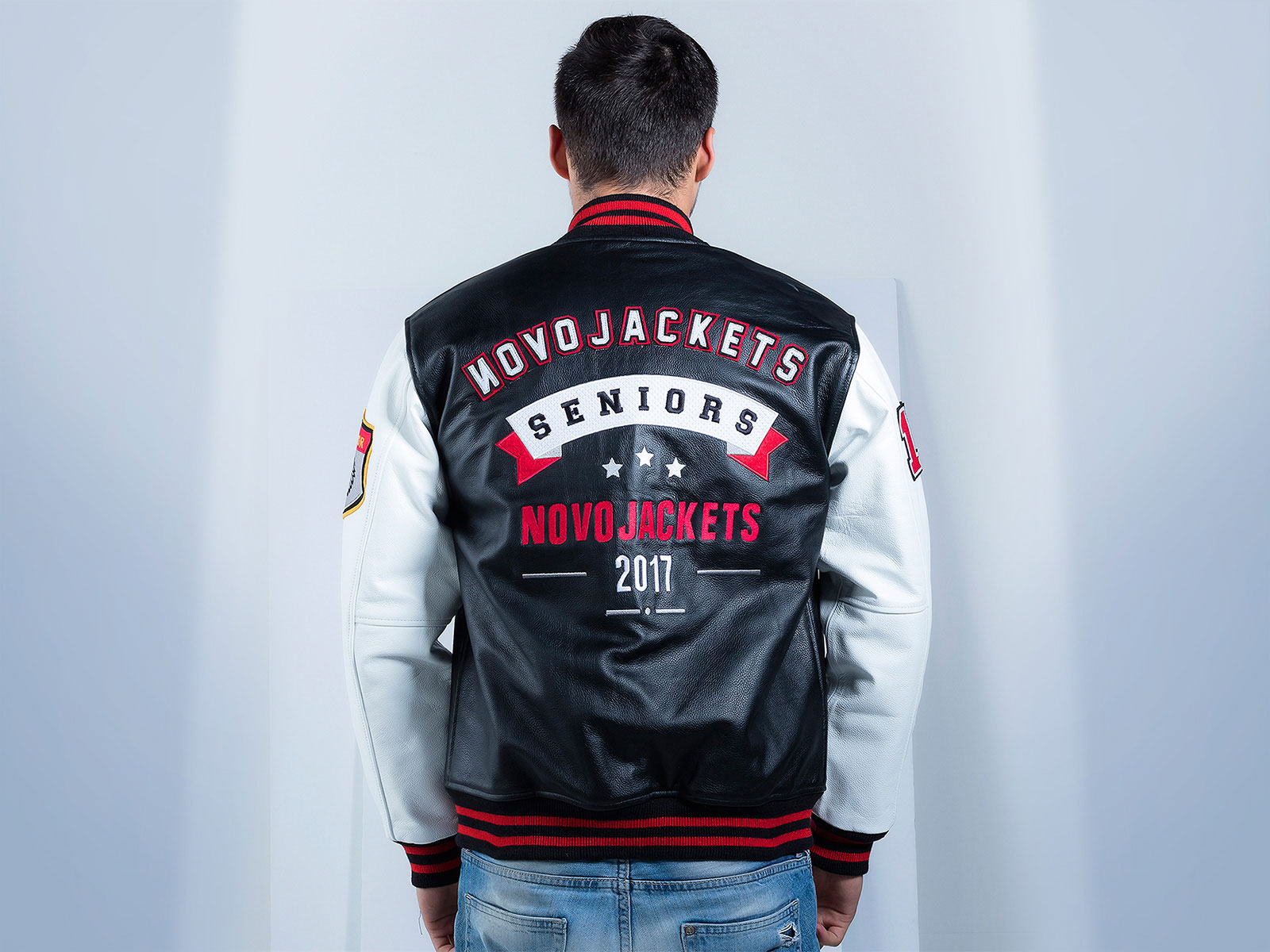 Custom Letterman Jackets Novo Jackets Seniors Leather Jacket
