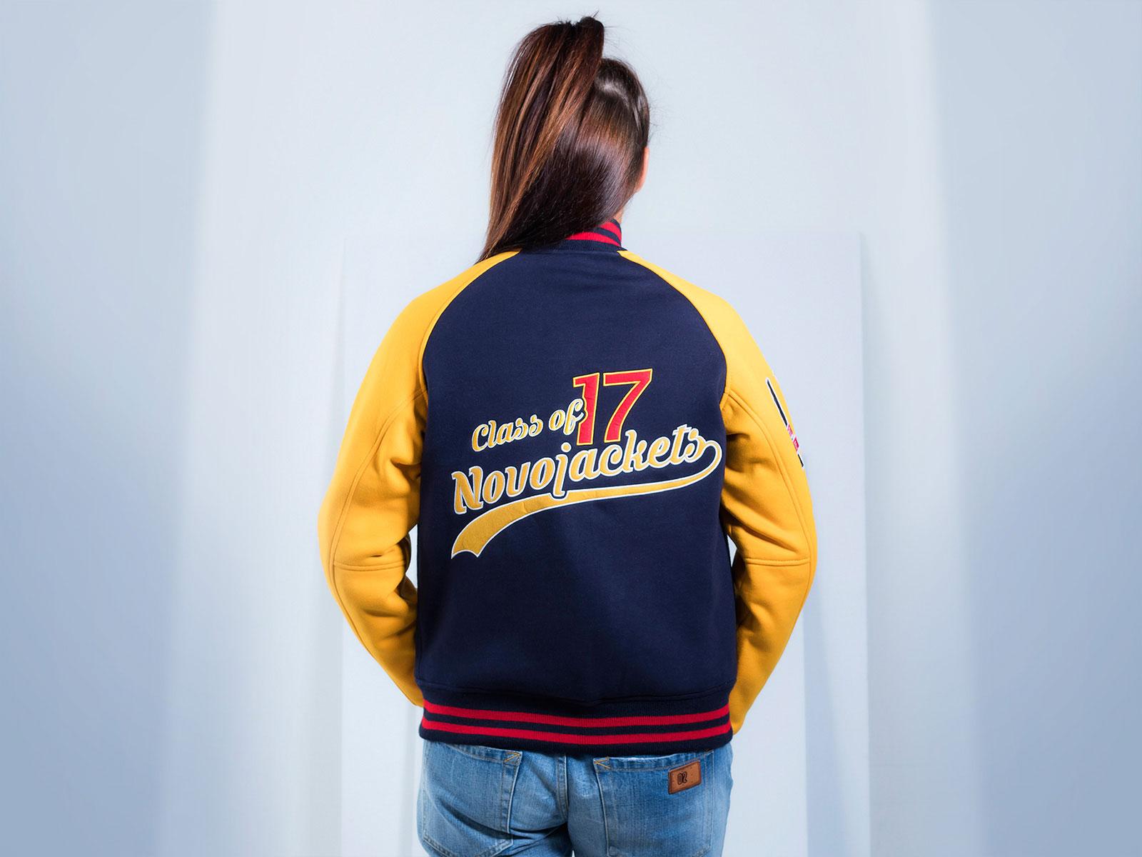 Cotton Fleece Varsity Jacket for Women