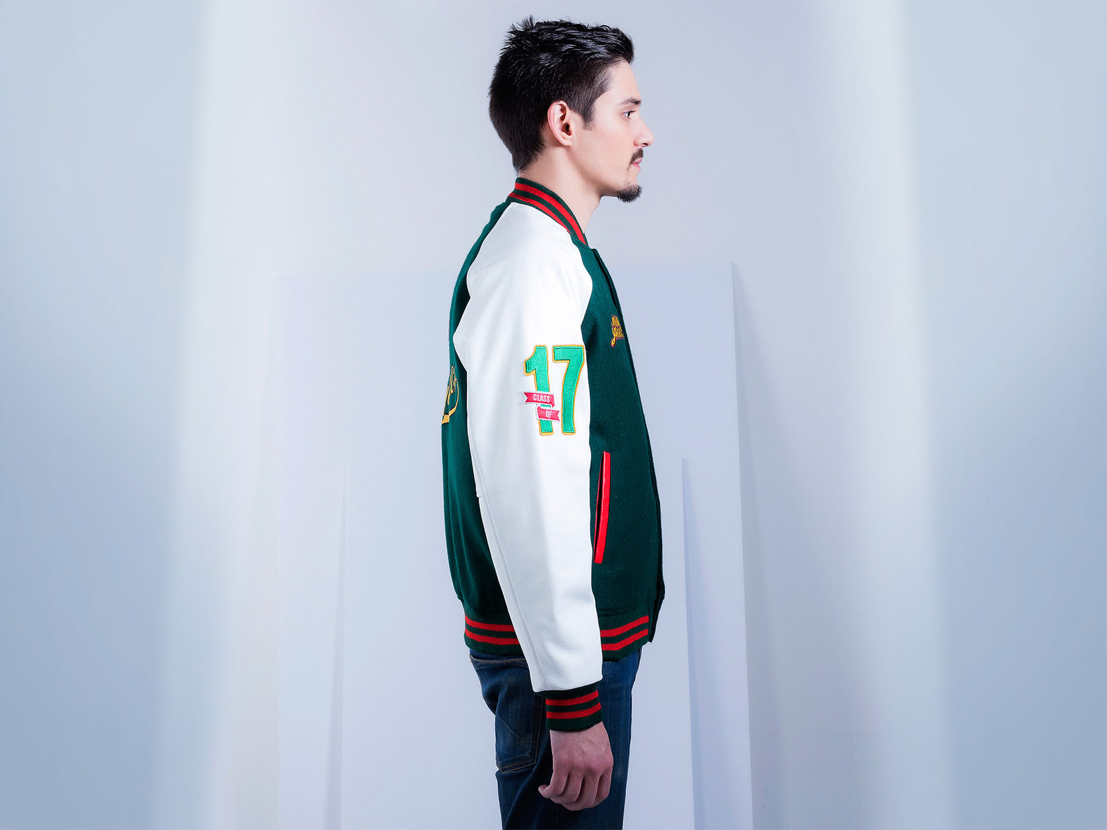 Raglan Leather Sleeves Letterman Jacket
