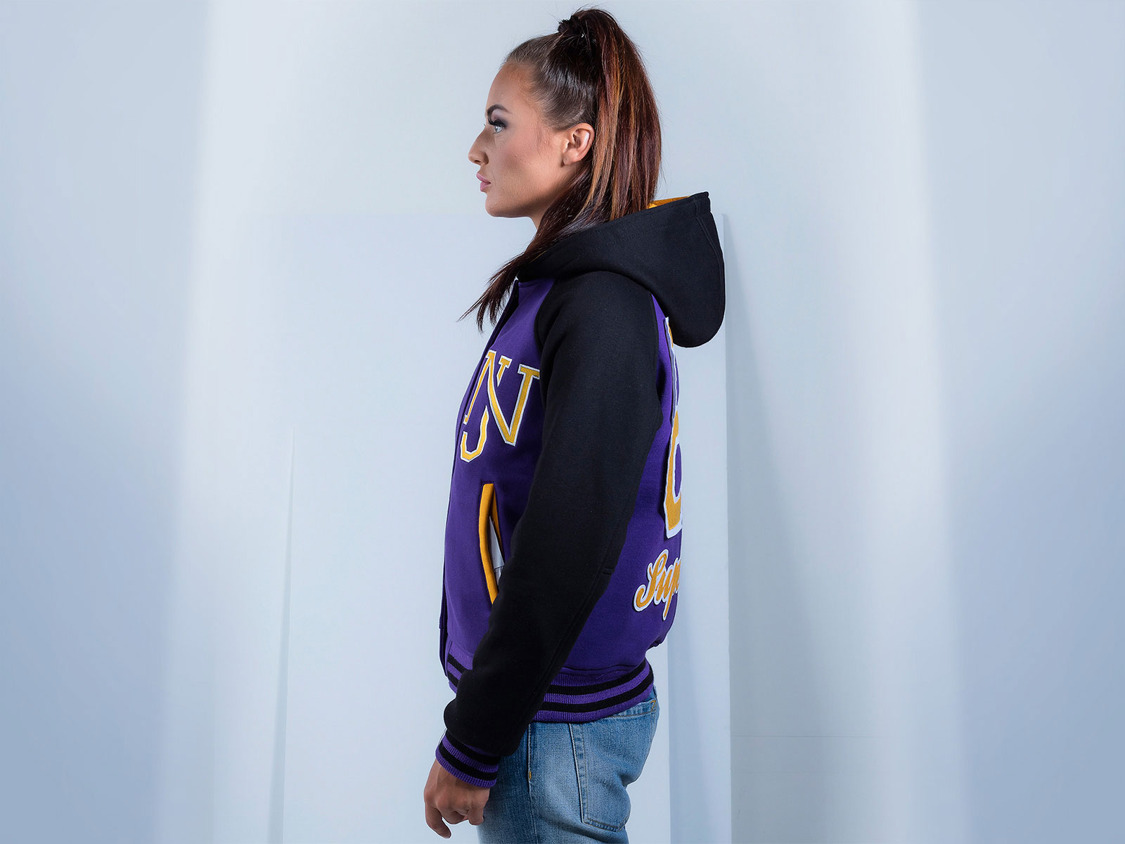 Women Cotton Fleece Custom Hoodie Team Jackets
