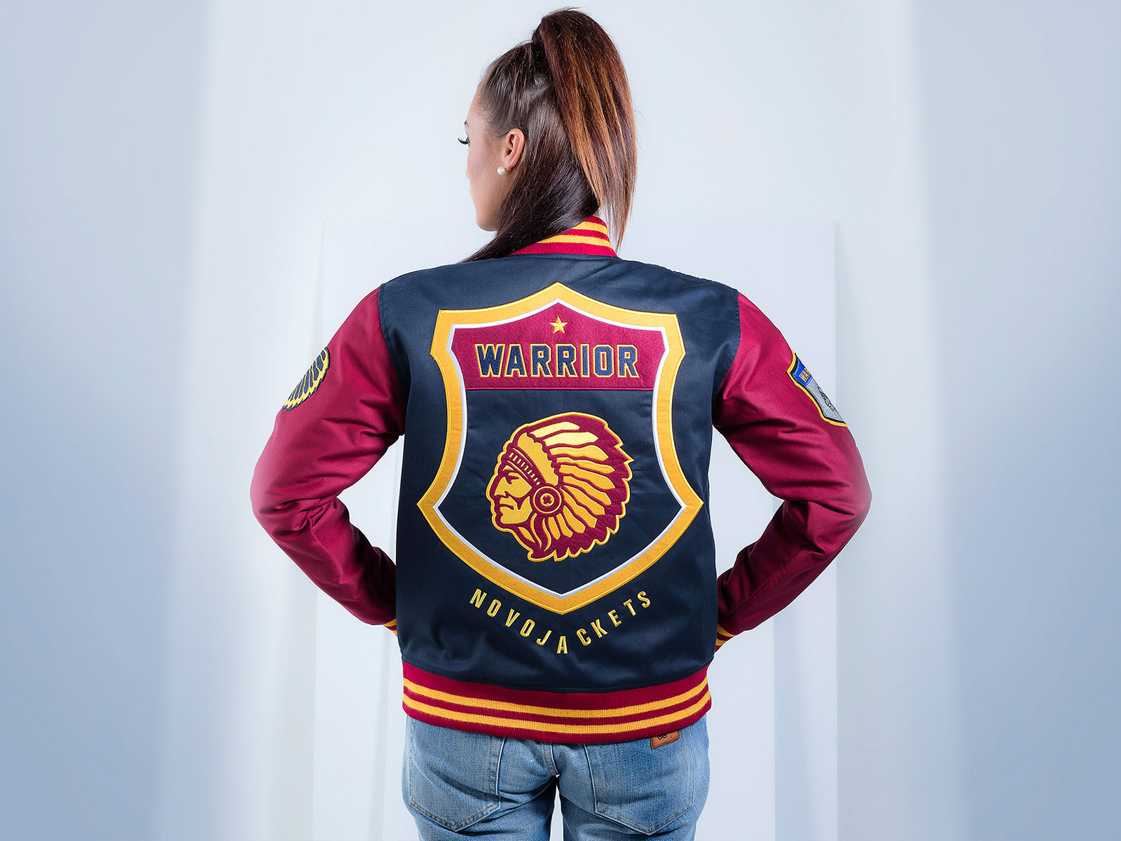 Warrior Women Custom Varsity Jacket Poly Cotton Twill