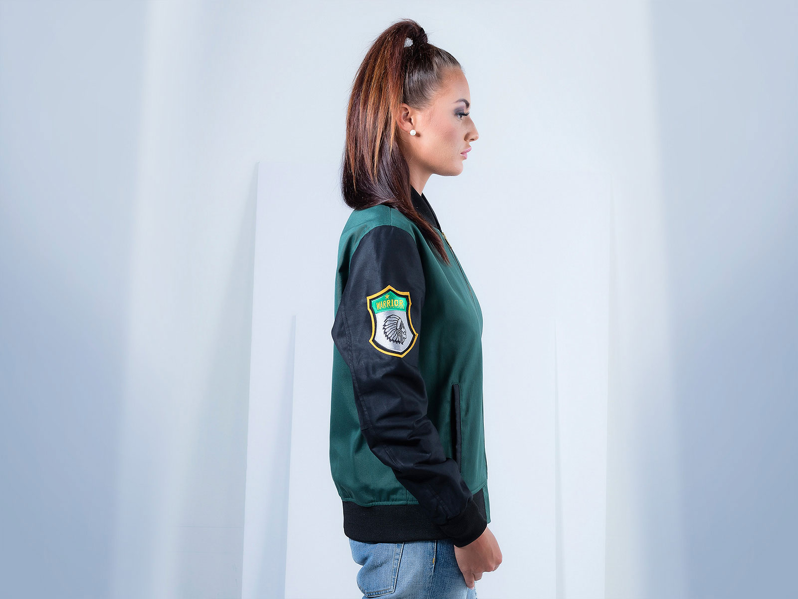 Poly Cotton Twill Custom Bomber Jacket