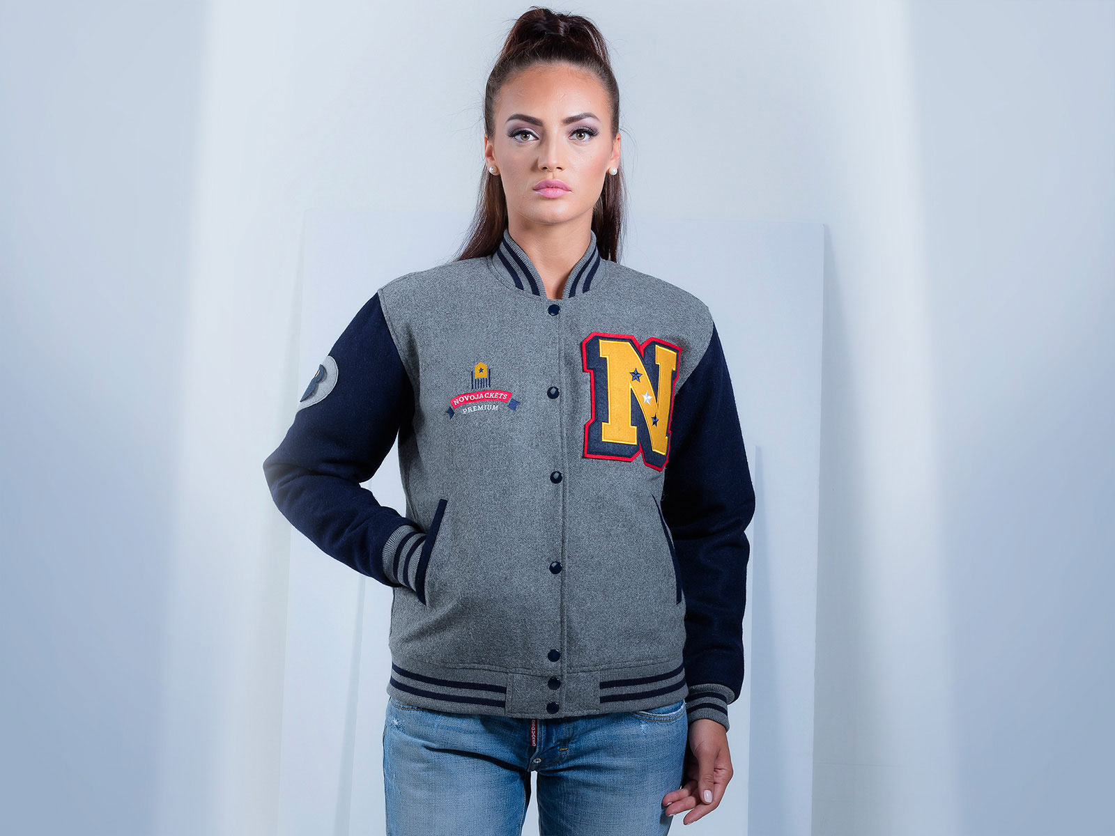 Custom Letterman Women Jacket Wool